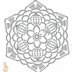 Crochet Squares, Free Crochet Doily Patterns, Crochet Snowflake Pattern, Crochet Motifs, Crochet Snowflakes, Granny Square Crochet Pattern, Crochet Mandala, Crochet Diagram, Crochet Chart