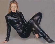 Tight Leather Pants, Leather Boots, Leather Jacket, Leather Outfits, Leather Trousers, Leather Catsuit, Black Milk Clothing, Tights And Boots, Leather Fashion