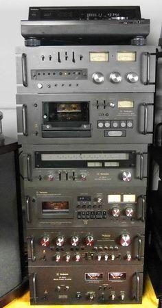 Stunning vintage stack with Technics and Technics Hifi, Audio System, Hi Fi System, Speaker Amplifier, Retro Radios, Audio Sound, High End Audio, Hifi Audio, Loudspeaker