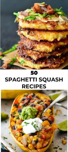 These healthy and delicious spaghetti squash recipes are the perfect way to put those squash you have in your kitchen to good use! Squash Eggplant Recipe, Eggplant Recipes, Baked Eggplant, Mushroom Recipes, Vegetable Recipes, Recipes With Soy Sauce, Fall Dinner Recipes, Winter Recipes, Courge Spaghetti