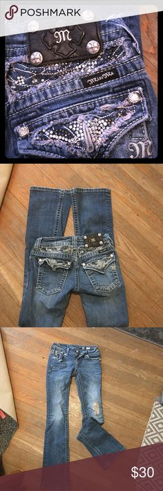 Miss Me jeans. Size 0/ 24. Boot cut Great condition Miss Me Jeans