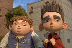 In the stop-motion comedy-thriller ParaNorman, the title character becomes friends with another outcast, his rotund neighbor Neil. Coraline, Iconic Movies, Good Movies, Norman, Minions, Carl Y Ellie, Stop Motion Movies, Laika Studios, Arts And Entertainment
