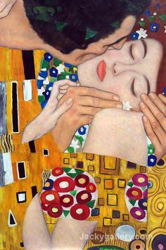 The Kiss (close-up) by Gustav Klimt paintings reproduction for ...