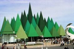 Canadian Pulp and Paper Pavilion at Expo '67, Montreal. via Archi/maps