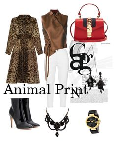 """Animal  Print 🐾"" by dolcejaquelin on Polyvore featuring Zhenzi, Ann Demeulemeester, Dolce&Gabbana, Gianvito Rossi, Gucci and Oscar de la Renta"
