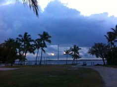 "Stormy morning sunrise in Key Largo 16 April 2014, it's not always ""sunny Florida Keys"""