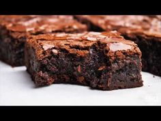 Basic Brownie Recipe Without Chocolate.Made From Scratch Brownies Recipe Eggless Brownies . Dark Chocolate Fudge Brownies Jenny Can Cook. The Best Chewy Fudgy Homemade Brownies Recipe Call Me PMc. Brownie Recipe Without Chocolate, Best Fudgy Brownie Recipe, Brownie Sem Gluten, Brownie Recipe Video, Brownie Recipes, Cake Recipes, Dessert Recipes, Delicious Chocolate, Baking Recipes
