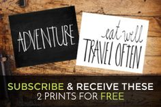 TwoFeetFirst – ADVENTURE & Eat Well Travel Often Printable for FREE!