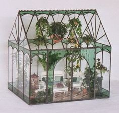 Miniature greenhouse beautiful and cool for ideas and inspiration ~ Creativehozz About Home Decorating Design, Entertainment, Kids, Creative, Crafts, Wedding