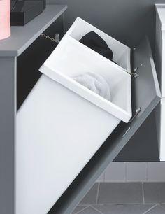 Home decor - Sådan løser du problemet med vasketøj, der roder! Deco Design, Küchen Design, Handmade Home Decor, Diy Home Decor, Primark Home, Inside Cabinets, Laundry Room Design, Laundry Rooms, French Country House