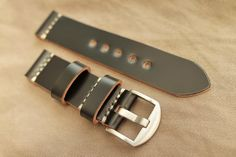 22mm handmade shell cordovan leather