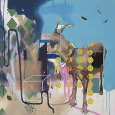 "Saatchi Art Artist Matthias Pilsl; Painting, """"Ohne Titel"" (goat)"" #art"