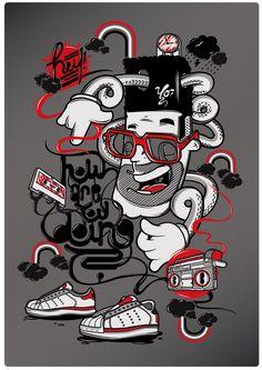 Illustration from DXTR, german street artist.