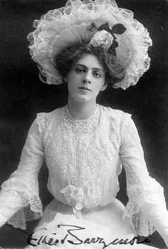 Ethel Barrymore (born Ethel Mae Blythe; August 15, 1879 – June 18, 1959) was an American actress and a member of the Barrymore family of actors. Daughter of the actors Maurice Barrymore and Georgiana Drew. She was named for her father's favorite character—Ethel in William Makepeace Thackeray's The Newcomes. She was the sister of actors John Barrymore and Lionel Barrymore, the aunt of actor John Drew Barrymore, and the grand-aunt of actress Drew Barrymore.