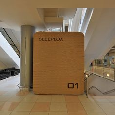 Russian architecture and design group Arch Group are releasing the Sleepbox, a very small portable hotel room with the intention of places like airports and Sheremetyevo International Airport, Sleep Box, Safe Deposit Box, Rose House, Box Building, Modern City, Mdf Wood, Dezeen, Shopping Center