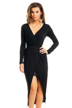 25c19656ed Divine Wear · Sukienki · Sukienka asymetryczna z wycięciami czarna
