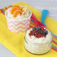 Sugar Free Coconut Rice Pudding. Great for weaning babies | My Fussy Eater Blog