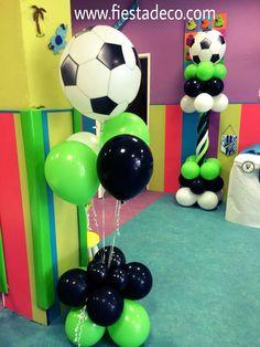 2018 Decoracion De Globos Para Fiestas Infantiles De Princesas Soccer Birthday Parties, Soccer Party, Sports Party, 2nd Birthday, Soccer Decor, Construction Theme Party, Balloon Decorations Party, Party Ballons, Holidays And Events