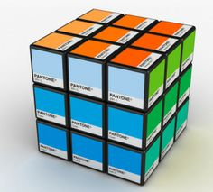 One can say whatever you like about the Pantone Cups, Nice, Fun or maybe to much. But the Rubiks Cube in Pantone colours. WOW, thats branding.