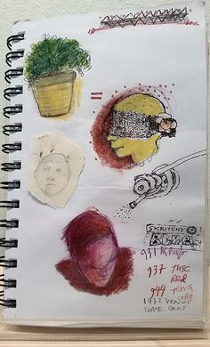 Candis Wheat, sketchbook page, mixed media.
