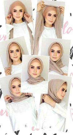 Simple Hijab Tutorial, Hijab Style Tutorial, Scarf Tutorial, Stylish Hijab, Modern Hijab, Easy Hijab Style, Hijab Caps, Head Scarf Styles, Hijab Bride