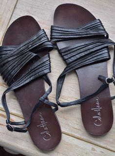 Cole Haan Sandals Women's Size 10 Black Flats Summer Shoes  | eBay