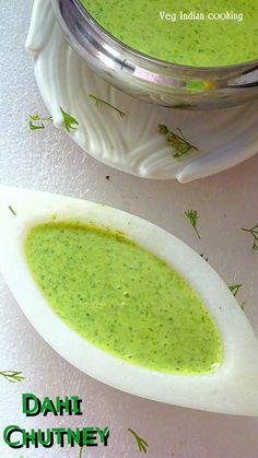 Veg Indian Cooking: Dahi Chutney