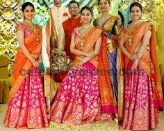 Vasundhara's Daughter Benaras Half Saree Half Saree Lehenga, Kids Lehenga, Saree Look, Lehenga Skirt, Floral Lehenga, Lehnga Dress, Lehenga Blouse, Half Saree Designs, Lehenga Designs