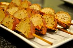 Fun BBQ idea...Potatoes on a stick :) (Bet this would be good with sweet potatoes too)