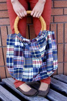 DIY: hoop handled handbag