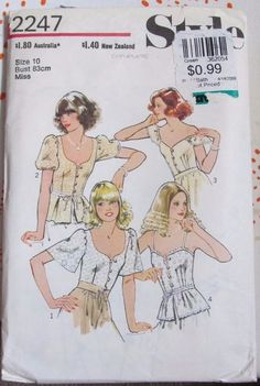 Vintage Style sewing pattern 2247 bust 32 1/2 complete 70s top