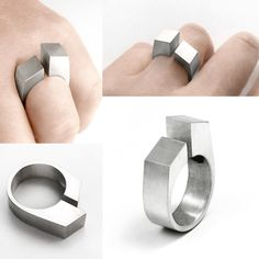 Plateau Ring, Susan Snyder Jewelry, Modern Jewelry