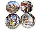 For Sale - 4 M.I. Hummel Little Companions Decorative Collectible Plate Plates Set LE 1990s