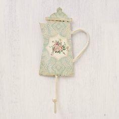 This is Pretty - Vintage Rose Pale Blue Teapot Hook
