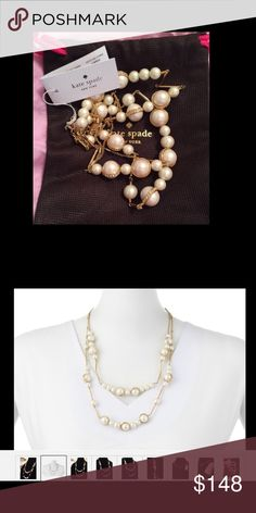 NEW❗️Kate Spade PEARL NECKLACE PURELY PEARL $148 NWT Kate Spade PEARL NECKLACE PURELY PEARL $148 Double Strand 12k Crystals ❤️THANKS FOR SHOPPING @SAFFORDHALL! WE LOVE GREAT OFFERS! SELLERS LOOK FOR 90% + OF LIST PRICE TO WIN YOUR BID!❤️BUNDLE TO SAVE!❤️NO TRADES NO LOWBALLS!❤️BULLYS, TROLLS AND HARASSERS ARE REPORTED AND BLOCKED❤️KEEP POSHMARK CLASSY!❤️SPREAD THE LOVE!❤️DO UNTO OTHERS AS YOU WOULD HAVE THEM DO UNTO YOU❤️STOP THINK ACT PROCEED❤️WE WORK HARD TO BRING YOU THE CUTEST STYLES AND…