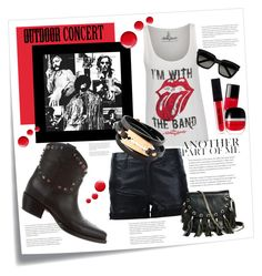 """""""Outdoor Concert - 60sec"""" by valerie-42 ❤ liked on Polyvore featuring Post-It, RtA, Valentino, McQ by Alexander McQueen, Yves Saint Laurent, GUESS by Marciano, Chanel, Marc Jacobs, Topshop and 60secondstyle"""