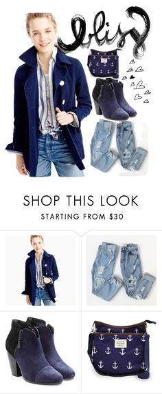 """Blue Coat Bliss"" by alongcametwiggy ❤ liked on Polyvore featuring J.Crew, rag & bone and Sloane Ranger"