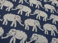 John Robshaw Elephants Throw Pillow Cover in Navy by FLairworks, $50.00 ON MY SOFA GET THERE NOW!