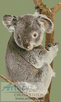 Koala in Tree Cross Stitch Pattern http://www.artecyshop.com/index.php?main_page=product_info&cPath=18&products_id=14