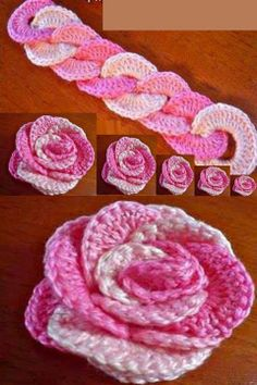 Cool idea for a rollup rose or flower; use interlocking rings!