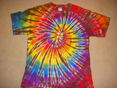 Spiral Tie Dye This with a bunch of jewelry and a denim vest and some combat boots :)  #DreamOutfit