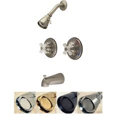 Vintage 2-Handle Pressure Balanced Tub and Shower Faucet (Polished Brass), Silver