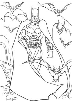 coloring page batman