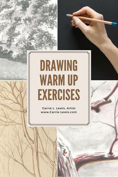 Warm Up Exercises for Drawing - Carrie L. Lewis, Artist These are some great ideas that can be easily adapted to use in the art classroom for drawing warm ups! Drawing Skills, Drawing Lessons, Drawing Techniques, Drawing Tips, Art Lessons, Ideas For Drawing, Pencil Drawing Tutorials, Art Tutorials, Pencil Drawings
