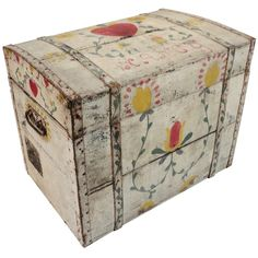 19thc  Original Painted Penna. Dutch Decorated & Nancy On Lid
