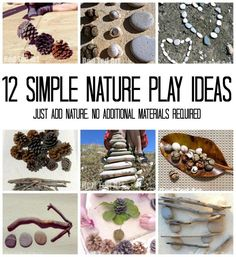 12 Nature Play Ideas – having fun with nature items outdoors