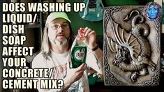 Does Washing Up Liquid/Dish Soap Weaken Your Concrete & Cement? Concrete Cement, Dish, Soap, Crafts, Crafting, Diy Crafts, Craft, Arts And Crafts, Soaps