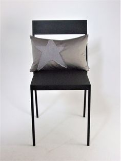 Fallen+star+cushion+cover, £20.00 Grey silver satin and linen cushions.