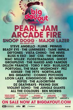 Set List: Pearl Jam @ Big Day Out, Gold Coast, Australia