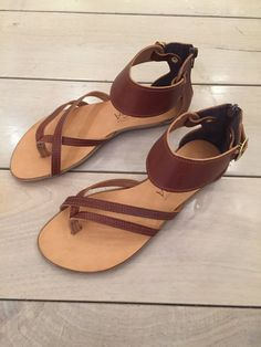 Greek leather sandals. Women's handmade leather by FlogaNewYork